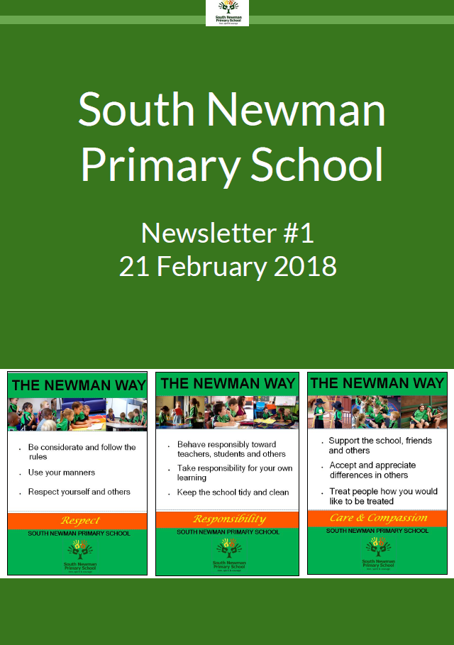 Newsletters   South Newman Primary School